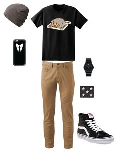 """mens outfit"" by janaephilips-2002 on Polyvore featuring Pusheen, Dockers, Vans, Movado, Yves Saint Laurent, Dakine, Casetify, men's fashion and menswear"