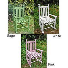 @Overstock.com - Youth Blue Grass Rocking Chair - Enhance the beauty and style of your outdoor space with these comfortable porch rocking chairs. Made from hard-wearing and elegant China oak, these water-resistant lounge chairs are available in a variety of color choices to match any decor.  http://www.overstock.com/Home-Garden/Youth-Blue-Grass-Rocking-Chair/3235226/product.html?CID=214117 EUR              55.38