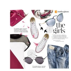 """SmartBuyGlasses Contest"" by sans-moderation ❤ liked on Polyvore featuring River Island, Bensimon, Diane Von Furstenberg, Burberry, Bulgari, Converse, Gentle Monster, sunglasses and smartbuyglasses"