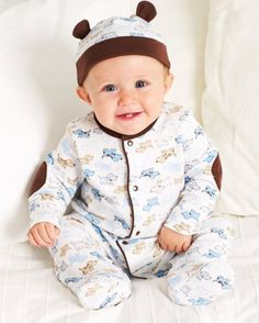 Every little man needs a Cute Puppies Footie Baby Boy Outfits cc329e62b