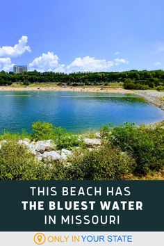Spend a summer day at one of the best and most beautiful beaches in Missouri. You'll love the sandy shores and blue water. Most Beautiful Beaches, Weekend Trips, Months In A Year, Summer Travel, Natural Wonders, Trip Planning, Wonders Of The World, Missouri, State Parks