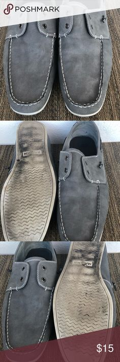 Men's Blue/Gray Madden Boat Shoes Dre's up or down with these Madden boat shoes! Worn in but in great condition! Color is gray but has blue undertones. Madden Shoes Boat Shoes