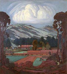 Jacobus Hendrik Pierneef Landscape Art, Landscape Paintings, South African Artists, Africa Art, Painter Artist, Africa Travel, Famous Artists, Artist At Work, Love Art