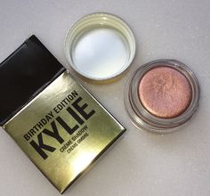 Kylie Cosmetics Birthday Edition Rose Gold Creme Shadow!! #kyliecosmetics…