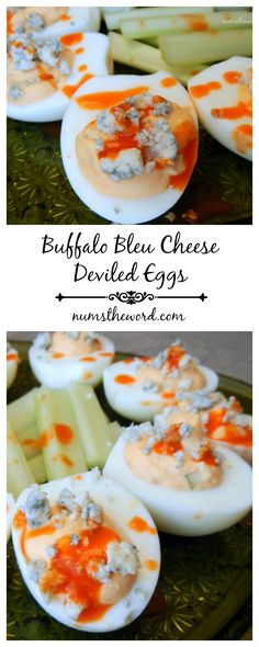 These 10 minute Buffalo Bleu Cheese Deviled Eggs are packed with flavor with ZERO spice! Easy, delicious and a nice twist on the classic deviled egg.