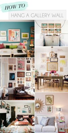 We love the idea of creating a gallery wall in the home, whether it be in a living room, bedroom, or even an office space. We turned to interior designer Muffie Faith, whose store was featured… Decoration Inspiration, Inspiration Wall, Decor Ideas, Style At Home, Living Spaces, Living Room, Interior Decorating, Interior Design, Decorating Ideas