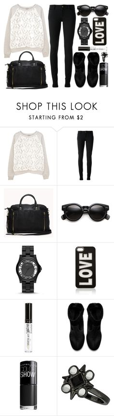 """""""street style"""" by sisaez ❤ liked on Polyvore featuring Clu, Gucci, Forever 21, Marc by Marc Jacobs, Forever New, River Island, Zara, Maybelline and Topshop"""