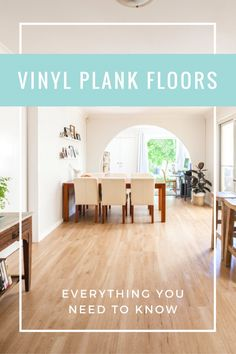Recently I shared with you guys our new vinyl plank floors – and some 'before'...
