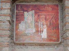 Pompeii Ruins, Satyr, Acanthus, Ancient Rome, Roman Empire, Fresco, Worship, Vintage World Maps, Museum