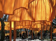 The Gates. An art installation in Central Park. February, 2005. Christo and Jeanne-Claude.