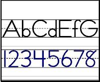 Estilo 2 - Ejemplo de papel para escribir para nivel inicial preescolar, Kindergarten y primaria