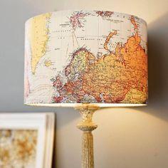 Decorazioni per la casa con carte geografiche - Fotogallery Donnaclick