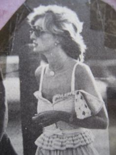 July 12, 1983: Prince Charles and Princess Diana at a polo match in Windsor, they shared a tender moment (other photo).