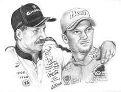 Please click on this drawing of Dale and Dale Jr to see a very touching tribute.
