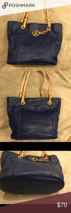 Michael Kors Navy Blue Purse My cousins is moving and does not want to bring items with her that she does not use. This coach purse is one of those items. It has never been used. In like new condition. All offers accepted. Michael Kors Bags Shoulder Bags