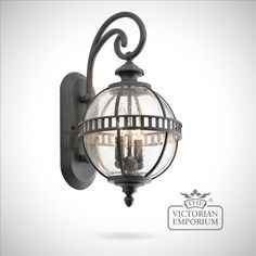 Buy Hallaron small wall light, Outdoor Wall Lights - The Hallaron light incorporates a traditional Victorian inspired design in a dark bronze finish.