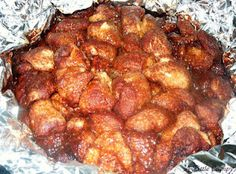 campfire monkey bread. totally want to do this at the cabins this year!