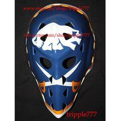Hockey mask, Hockey goalie, NHL ice hockey, Roller Hockey, Hockey goalie mask, Hockey helmet Buffalo Gerry Desjard mask HO30