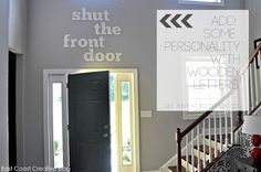 Wooden Letters to add some personality to your walls!  Shut the Front Door!  From East Coast Creative Blog.