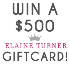 Elaine Turner $500 Gift Card Giveaway! | Its Pam Del