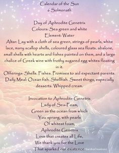 Wiccan Spells, Magick, Witchcraft, Days And Months, String Of Pearls, Book Of Shadows, Aphrodite, The Conjuring, Bibs