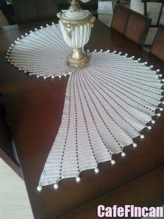 Interesting crochet doily