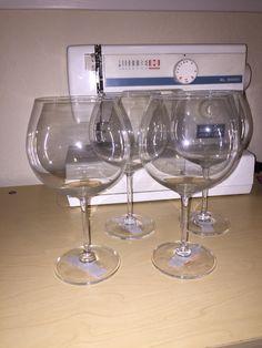 4 mikasa crystal wine glasses