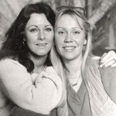 """all-about-abba: """"Anni-Frid & Agnetha (ABBA) Thanks dear llyngstads for this amazing picture. Brighton, Best Of Abba, Frida Abba, Abba Mania, Music Online, Ballet, Popular Music, Pop Group, Music Artists"""