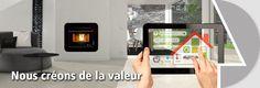 Régulation par tablette tactile pour modèles :  LONDON | PARIS | CIES | TOKYO | ECO III | INSERT CORDOBA | INSERT ECO III