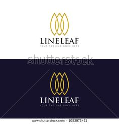 line leaf logo and icon Vector design Template. Vector Illustrator Eps10