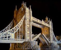 This Matchitecture Tower Bridge Matchstick Model Kit includes everything needed to make this matchstick model kit.  Included are all the pre-cut card formers along with the glue, matchticks and full instructions.  These instructions will guide you through each stage of the construction until you finally achieve the finished product. We would highly recommend this Tower Bridge Matchstick Model Kit.    5000 micro beams included.    Finished size of model:        L 1828mm      H 457mm      W 305mm