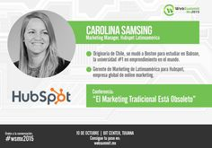 La Gerente de Marketing de HubSpot Español, Carolina Samsing, estará presente en #wsmx2015