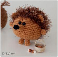 Funny crochet hedgehog