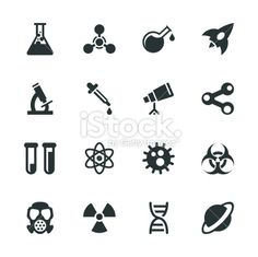 science icons for science themed party banner