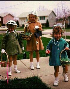 Easter egg hunt in days gone by.