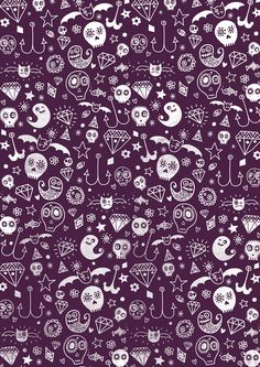 Day of the dead - Purple Art Print