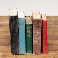 We've reserved (I believe) 75 of these. vintage books: Assorted colored vintage hardback books.