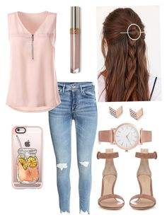 """""""Interview"""" by sarah16wood on Polyvore featuring Casetify, Urban Outfitters, Gianvito Rossi, FOSSIL and Larsson & Jennings"""