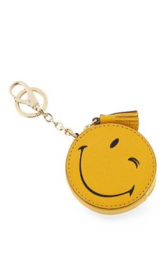 Wink Coin Purse in Mustard Kid Leather by Anya Hindmarch