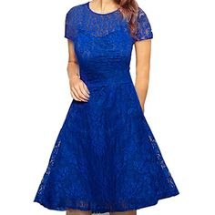 Women's+Sexy+Round+Neck+Solid+Color+Lace+Dress+–+USD+$+9.99