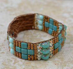 Loomed Beaded Bracelet Sundance Style Artisan by SplendorVendor