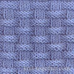 Basket (Wicker) Stitch Pattern 2, knitting pattern chart, Squares, Diamonds, Basket Stitch Patterns