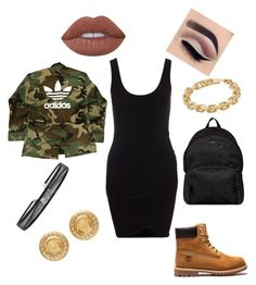 """""""Glam 8"""" by glowgetter on Polyvore featuring adidas, Hogan, Calvin Klein, Versace and Lime Crime"""