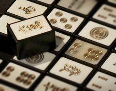 Gold Encased Mah Jong tiles
