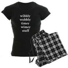 wibbly wobbly timey wimey stuff doctor who pajamas!