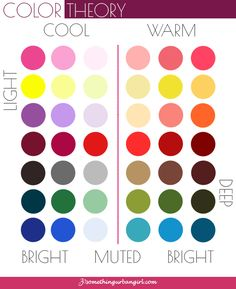 Learn more about colors and Color Theory to understand the Seasonal Color Analysis system. Cool Summer Palette, Warm Colour Palette, Muted Colors, Warm Vs Cool Colors, Cool Tones, Cool Skin Tone, Colors For Skin Tone, Skin Undertones, Seasonal Color Analysis