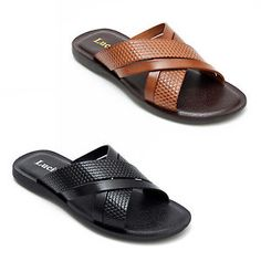 Leather Strap Sandals With Toe Strap. months around the house, the garden, the beach or by the pool. Mens Brown Casual Shoes, Men Casual, Leather Slippers, Leather Sandals, Gents Slippers, Flip Flop Shoes, Beach Wear, Fashion Sandals, Strap Sandals