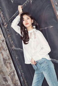 Absolutely Stunning Suzy Kpop Fashion, Asian Fashion, Fashion 2017, Girl Fashion, Korean Beauty, Asian Beauty, Korean Girl, Asian Girl, Miss A Suzy