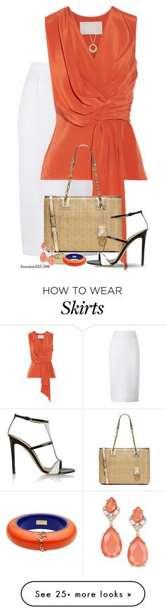 """""""Wear It in a White Skirt!"""" by houston555-396 on Polyvore featuring Roland Mouret, Jason Wu, Carelle, MICHAEL Michael Kors, Gianvito Rossi, Palm Beach Jewelry, Dsquared2 and INC International Concepts"""
