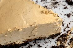Peanut Butter Pie with Cookie Crust is a delicious combination of chocolate and peanut butter in a sweet, cool, creamy dessert.